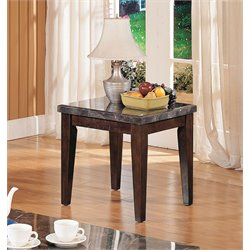 ACME Danville End Table in Black and Walnut