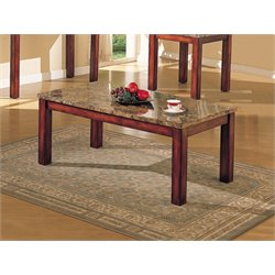 ACME Bologna Coffee Table in Brown and Cherry