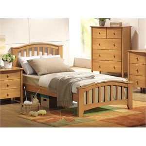 ACME San Marino Slat Bed in Dark Walnut