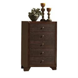 ACME Madison 5 Drawer Chest in Espresso
