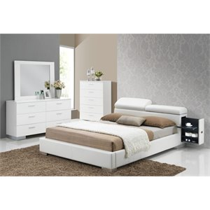 ACME Manjot Queen Panel Bed in White