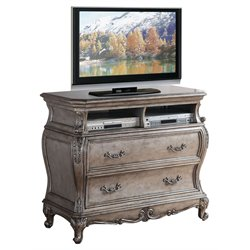 ACME Chantelle 2 Drawer Media Chest in Antique Platinum