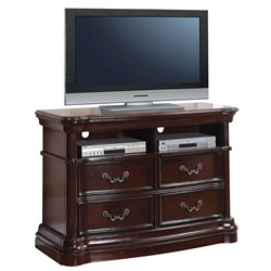 ACME Veradisia 4 Drawer Media Chest in Dark Cherry