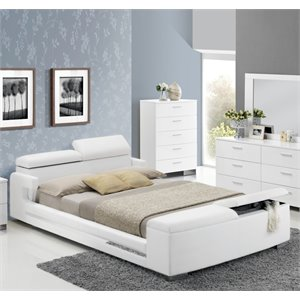 ACME Layla Queen Storage Bed in White