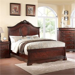 ACME Estrella Queen Panel Bed in Dark Cherry