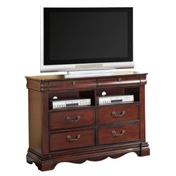 ACME 4 Drawer Media Chest in Dark Cherry