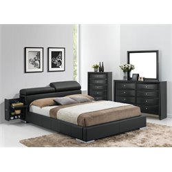 ACME Manjot Queen Storage Bed in Black