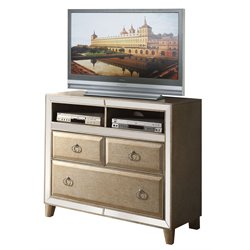 ACME Voeville 3 Drawer Media Chest in Antique White