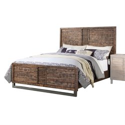 ACME Andria Panel Bed in Reclaimed Oak