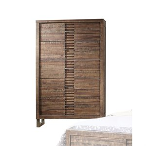 ACME Andria 5 Drawer Chest in Reclaimed Oak