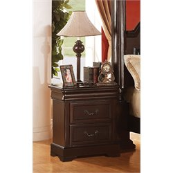 ACME Roman Empire II 2 Drawer Nightstand in Cherry
