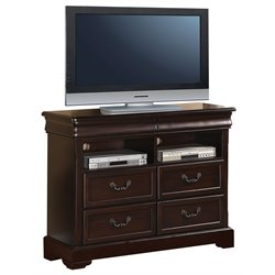 ACME Roman Empire II 4 Drawer Media Chest in Cherry