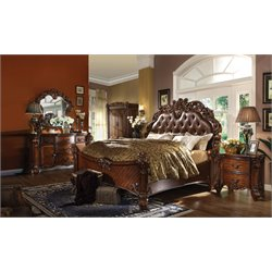 ACME Vendome Queen Panel Bed in Cherry