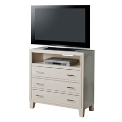 ACME Tyler 3 Drawer Media Chest in White