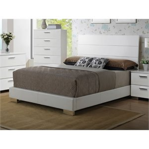 ACME Lorimar Queen Panel Bed in White