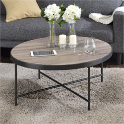 ACME Bage Coffee Table in Weathered Gray Oak