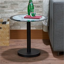ACME Boli End Table in Map Glass and Black