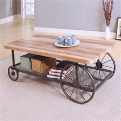 ACME Francie Coffee Table in Oak and Antique Gray