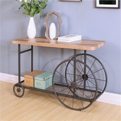 ACME Francie Console Table in Oak and Antique Gray