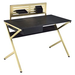 ACME Bolles Home Office Desk in Black and Gold