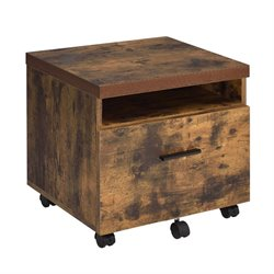 ACME Bob File Cabinet in Weathered Oak