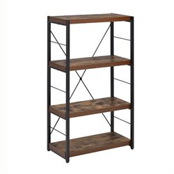 ACME Bob 4 Shelf Bookcase in Weathered Oak