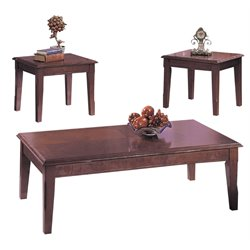 ACME Chester 3 Piece Coffee Table Set in Merlot