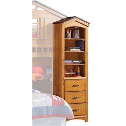 ACME Tree House 4 Shelf Bookcase in Rustic Oak
