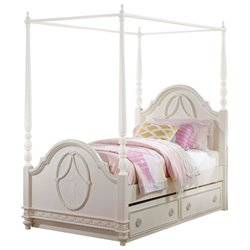 ACME Dorothy Full Canopy Panel Bed in Ivory