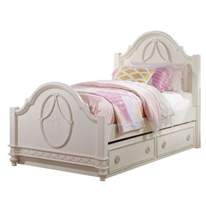 ACME Dorothy Twin Panel Bed in Ivory