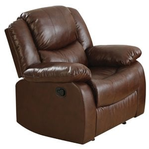 ACME Fullerton Faux Leather Recliner in Brown
