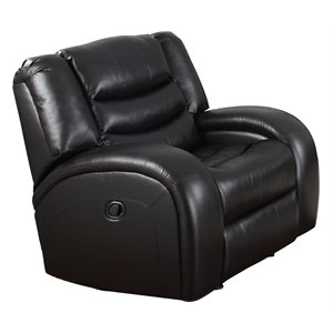 ACME Dacey Faux Leather Glider Recliner in Black