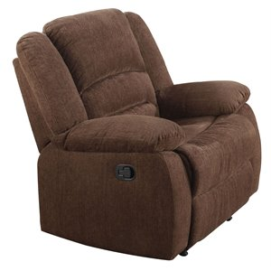 ACME Bailey Rocker Recliner in Dark Brown
