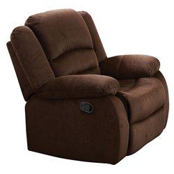 ACME Bailey Velvet Rocker Recliner in Chocolate