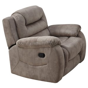 ACME Dreka Velvet Recliner in Stone Grain
