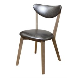 ACME Rosetta Faux Leather Dining Side Chair in Antique Beige (Set 2)