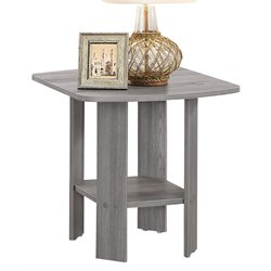 ACME Sadiya Square End Table in Gray Oak