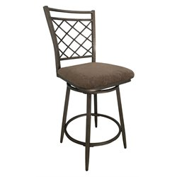 ACME Aldric Swivel Counter Stool in Antique Brass