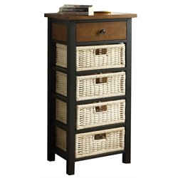 ACME Fidella Storage Rack in Black and Oak