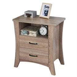 ACME Colt 2 Drawer Nightstand in Rustic Natural