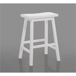 ACME Gaucho Bar Stool in White (Set of 2)