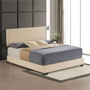 ACME Ireland Upholstered Panel Bed in Beige
