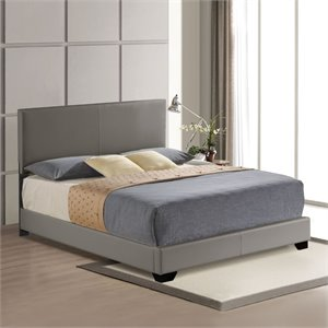 ACME Ireland Upholstered Panel Bed in Gray