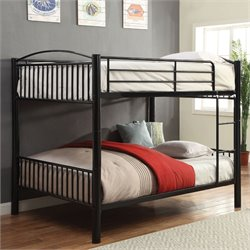 ACME Cayelynn Metal Bunk Bed in Black