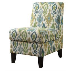 ACME Ollano II Storage Accent Chair in Green Pattern