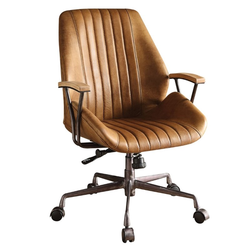 Genial ACME Hamilton Leather Swivel Office Chair In Coffee