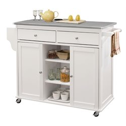 ACME Tullarick Mobile Kitchen Island in White