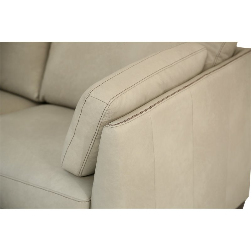 Marvelous Acme Matias Sofa In Dusty White Leather Dailytribune Chair Design For Home Dailytribuneorg