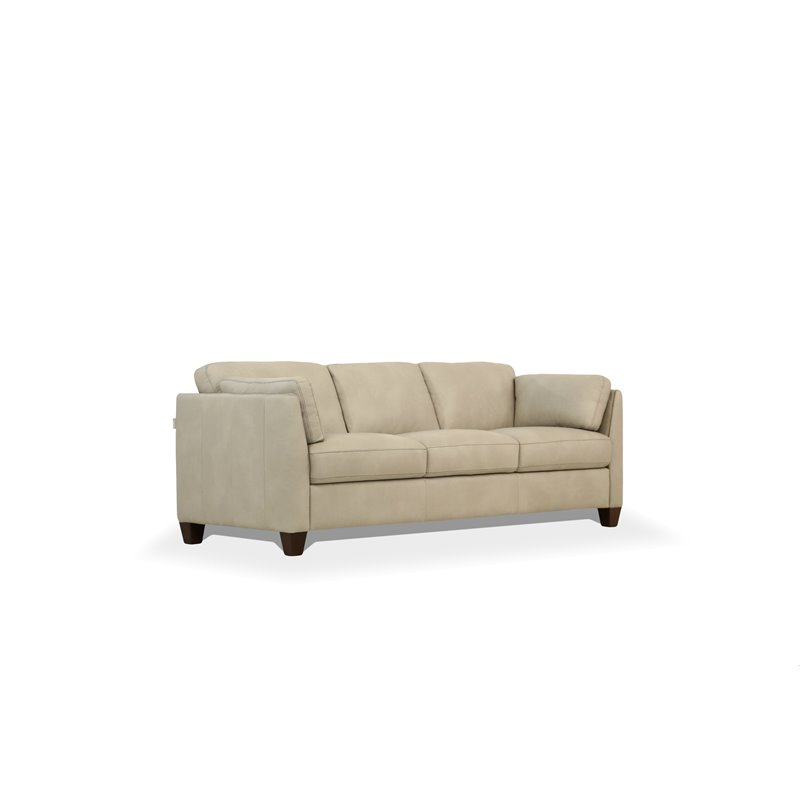 Groovy Acme Matias Sofa In Dusty White Leather Dailytribune Chair Design For Home Dailytribuneorg
