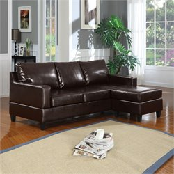 ACME Furniture Vogue Bonded Leather Sectional in Espresso